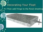 decorating your float1