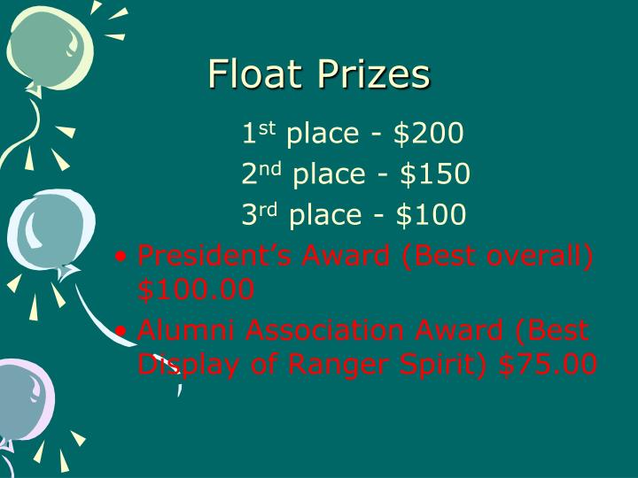 Float Prizes