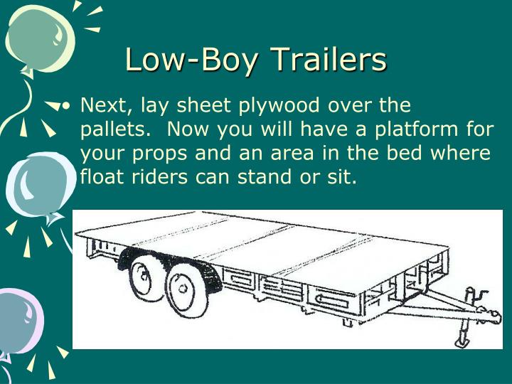 Low-Boy Trailers