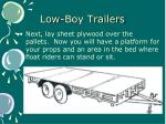 low boy trailers1
