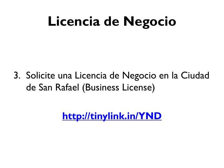 Licencia de Negocio