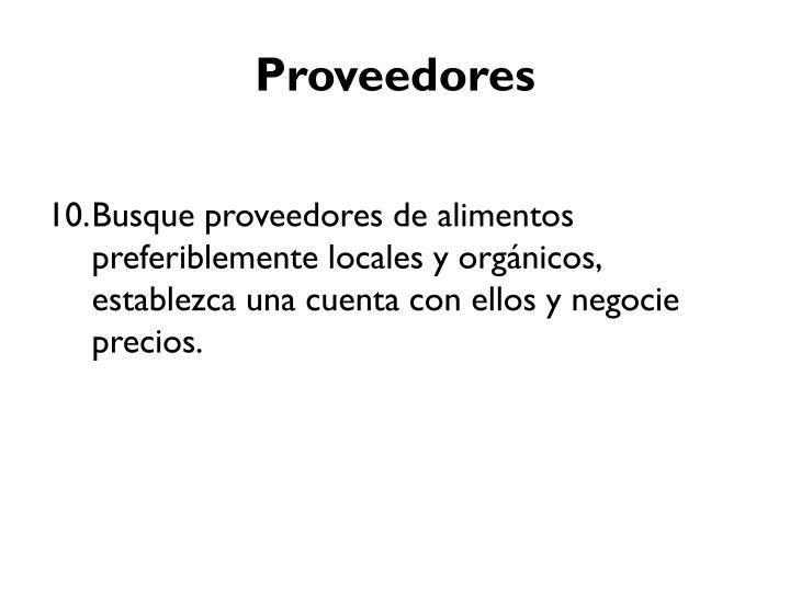 Proveedores