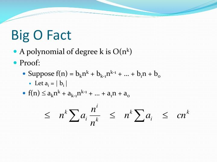 Big O Fact