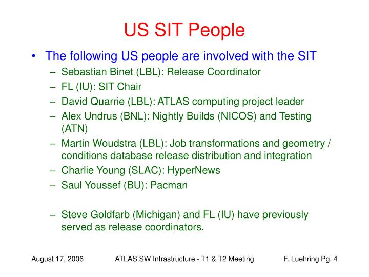 US SIT People