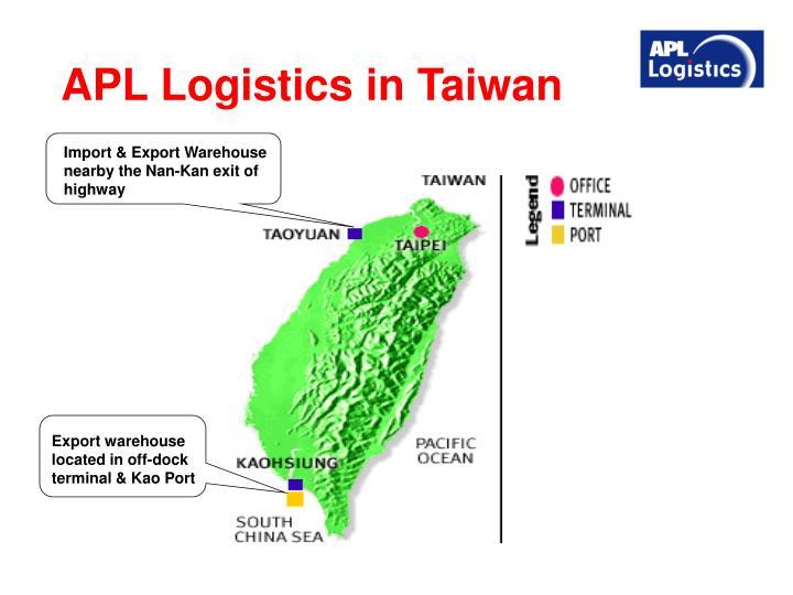 APL Logistics in Taiwan