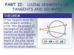 part ii using segments of tangents and secants