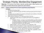 strategic priority membership engagement