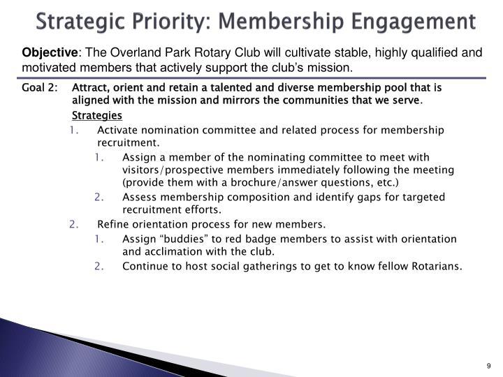 Strategic Priority: Membership Engagement