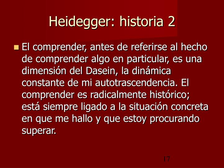 Heidegger: historia 2