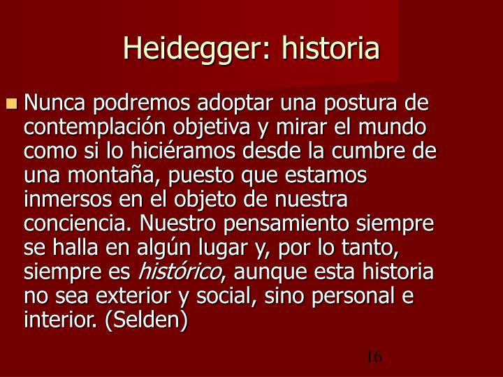 Heidegger: historia