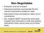non negotiables