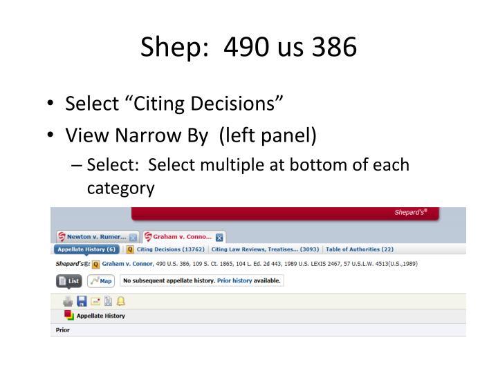 Shep:  490 us 386