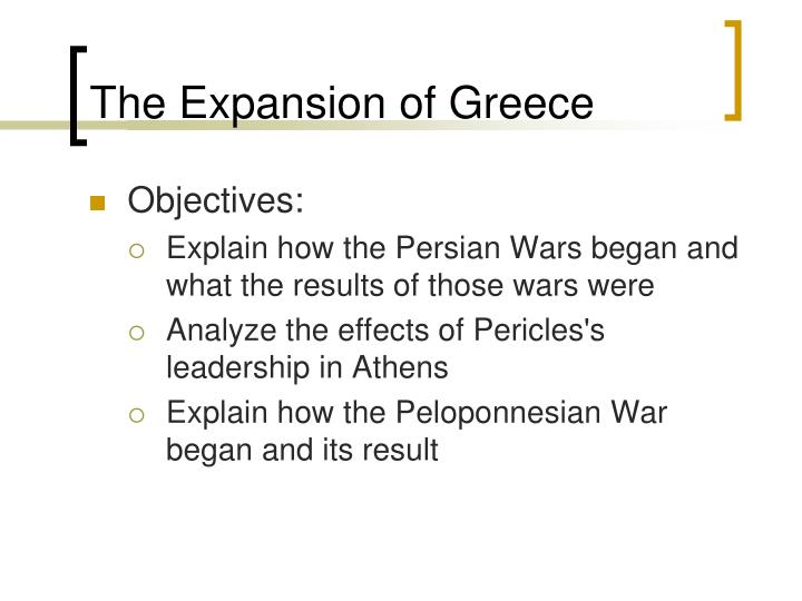 The Expansion of Greece
