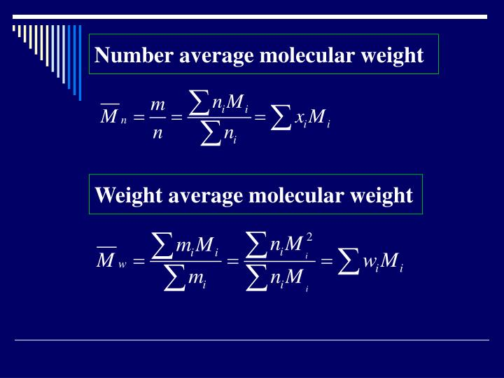 Number average molecular weight
