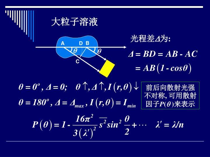 大粒子溶液