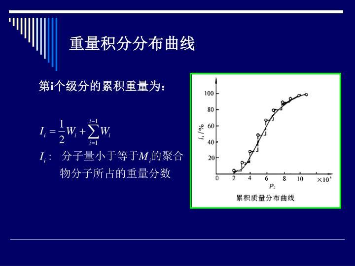 重量积分分布曲线