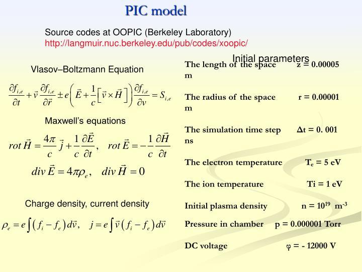 PIC model
