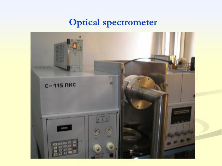 Optical spectrometer