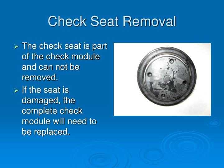 Check Seat Removal