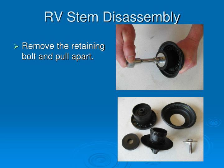 RV Stem Disassembly