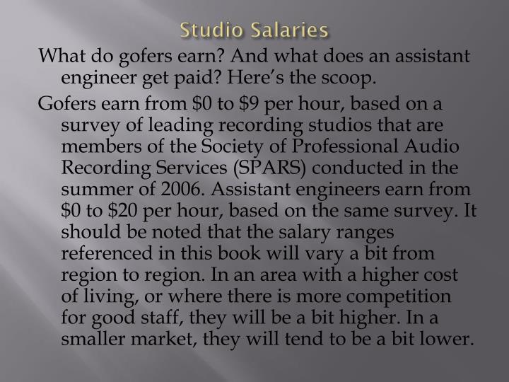Studio Salaries