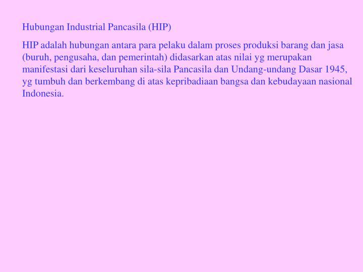 Hubungan Industrial Pancasila (HIP)