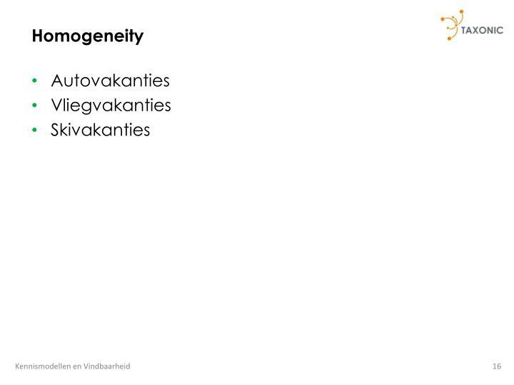 Homogeneity