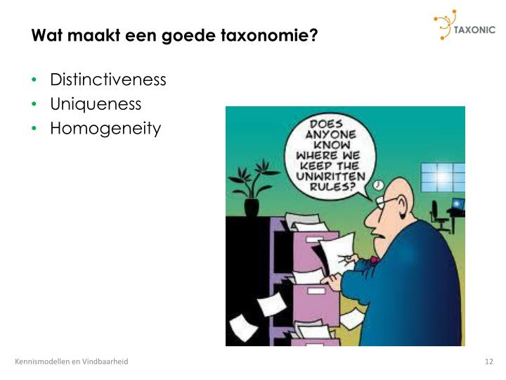 Wat maakt een goede taxonomie?