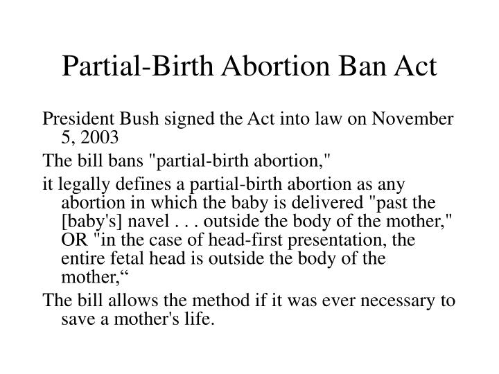 Partial-Birth Abortion Ban Act