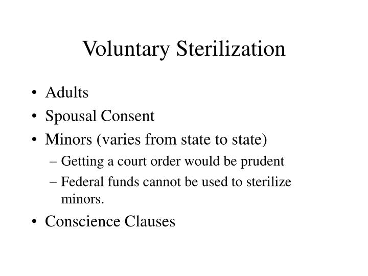 Voluntary Sterilization