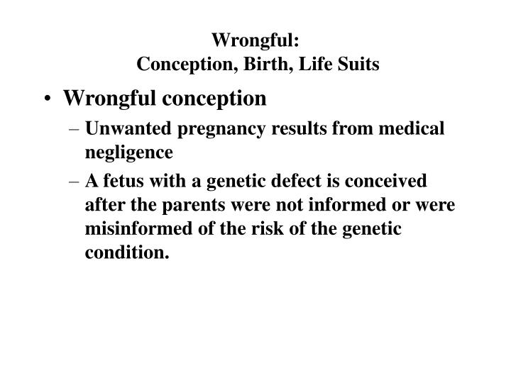 Wrongful: