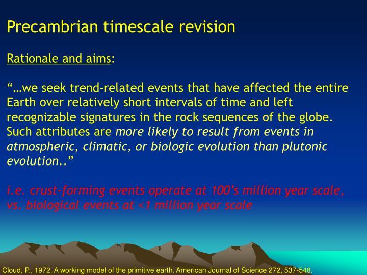 Precambrian timescale revision