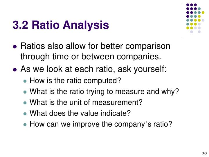 3.2 Ratio Analysis