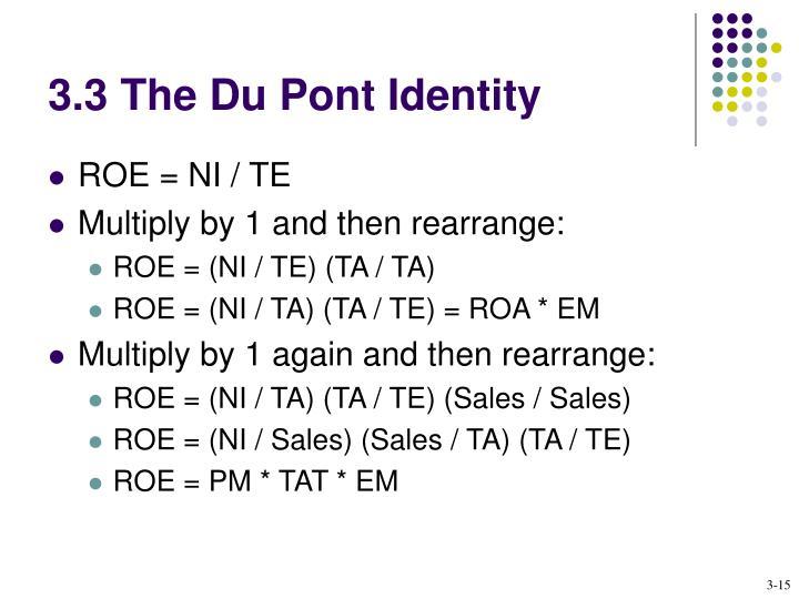 3.3 The Du Pont Identity