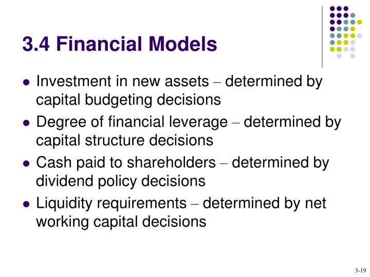 3.4 Financial Models