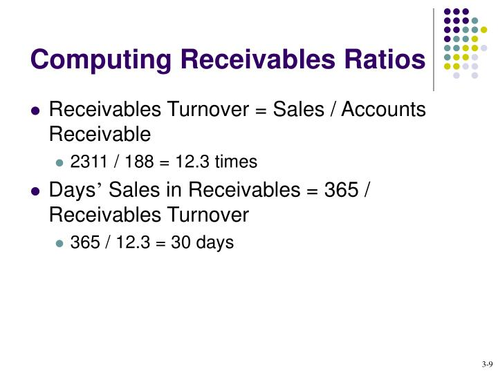 Computing Receivables Ratios