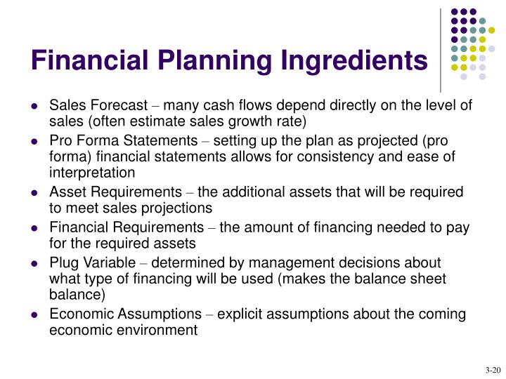 Financial Planning Ingredients