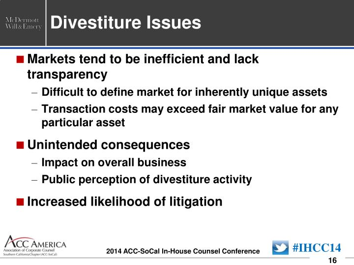 Divestiture Issues