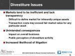 divestiture issues