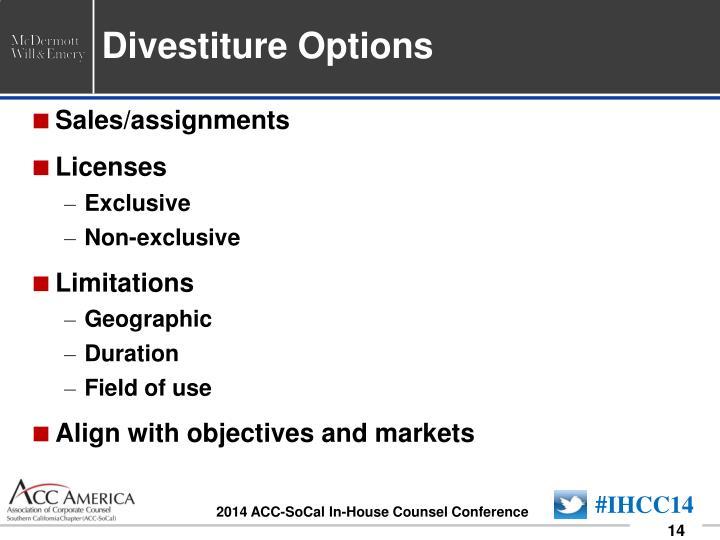 Divestiture Options