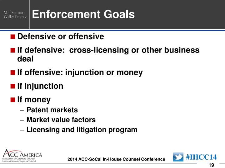 Enforcement Goals