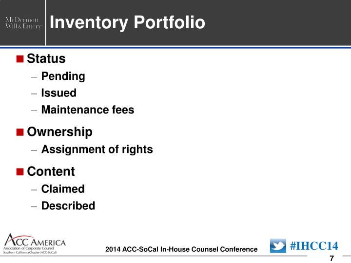 Inventory Portfolio