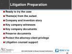 litigation preparation