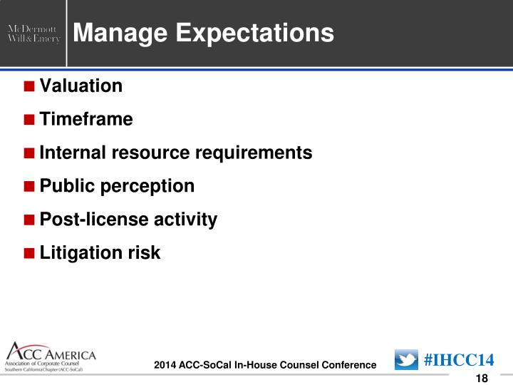 Manage Expectations