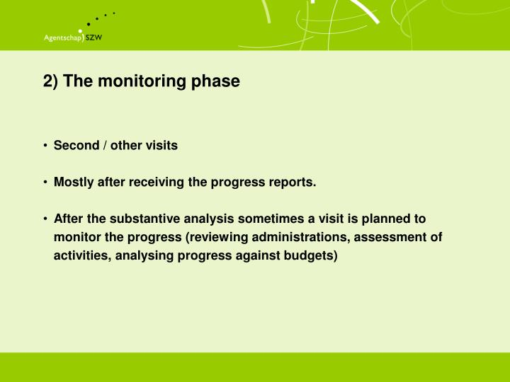 2) The monitoring phase
