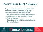 far 52 215 8 order of precedence