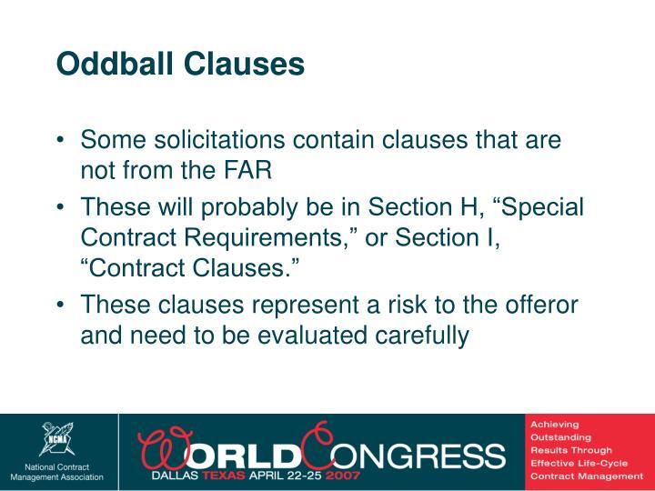 Oddball Clauses