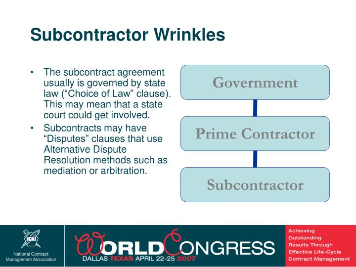 Subcontractor Wrinkles