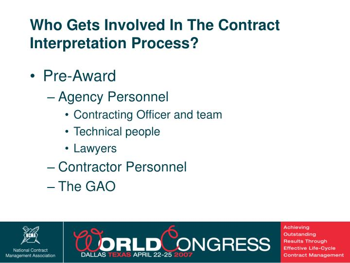 Who Gets Involved In The Contract Interpretation Process?
