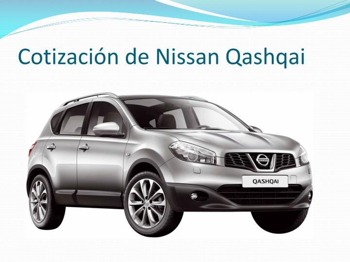 Cotización de Nissan Qashqai